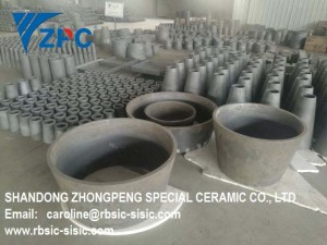 SiC wear resistant cone/pipe liner