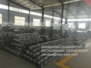 FGD Absorber slurry spray nozzles
