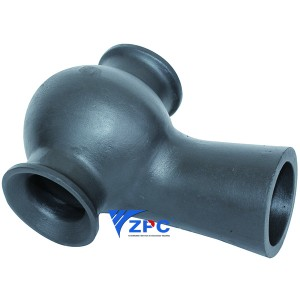 DN50, DN80, DN100 silicon carbide vortex nozzle for Wet Scrubbers of Acid Gas Absorption