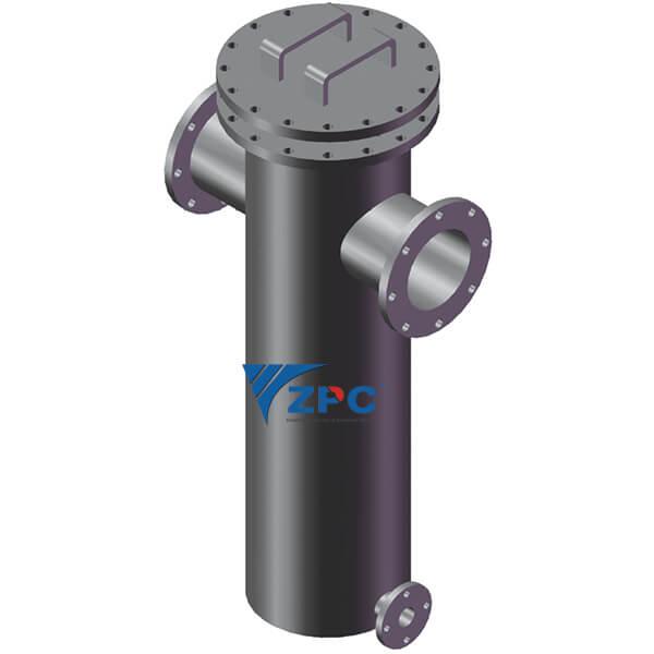 Imagem reacção de silício ligado filtro separador de carboneto Apresentado