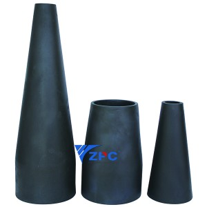 Reaction-yesondo lesilicon khabhayithi lining, Technical ceramic Taper sleeve