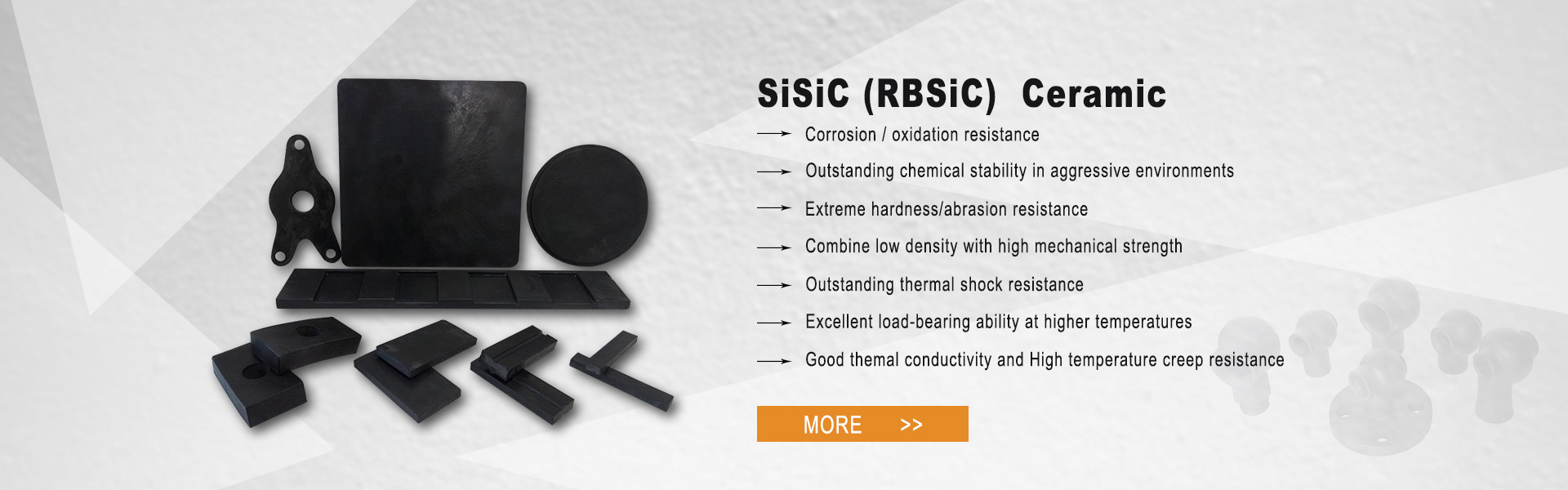 banner02, SiC wear resistant block, SiC plates, kiln furniture