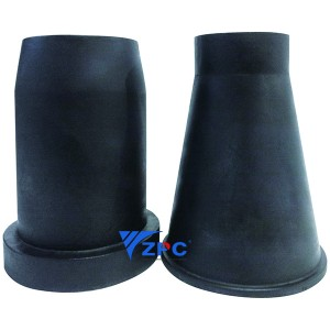 Corrosion and abrasion resistant ceramic  cone tube