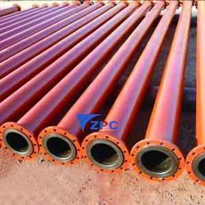 Ceramic lining of metal tube