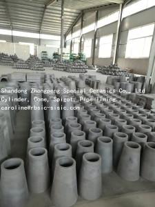 Super wear resistant silicon carbide RBSC cylinder, cone, spigot manufacturer