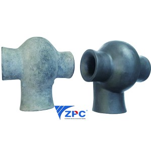 Double direction spray silicon carbide vortex nozzle for Wet Scrubbers of Acid Gas Absorption