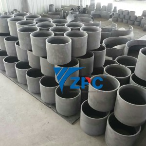 SiC Grinding barrel lining, wear resistance silicon carbide cylinder, cone, spigot, etc