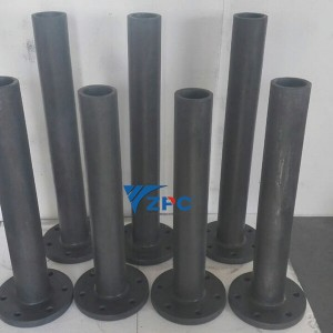 Mabagang kinutaang silicon carbide tube