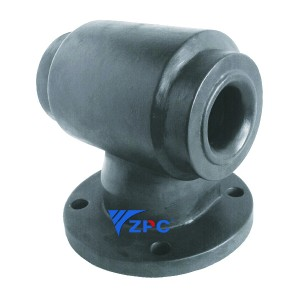 Flange vortex hollow cone nozzle
