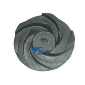 Gain technegol impeller ceramig sic