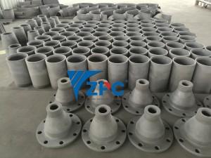 wear resistance silicon carbide cylinder, cone, spigot, etc