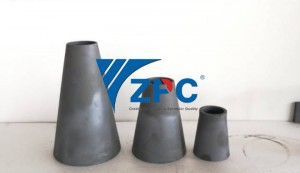 Wear resistant silicon carbide cone liner and spigot in the mining industry