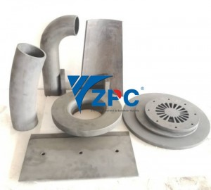 wear resistant silicon carbide liner, cone liner, pipe, spigot, plates (6)