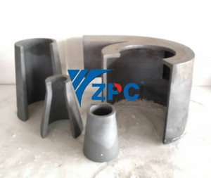 Wear resistant silicon carbide liner in mining